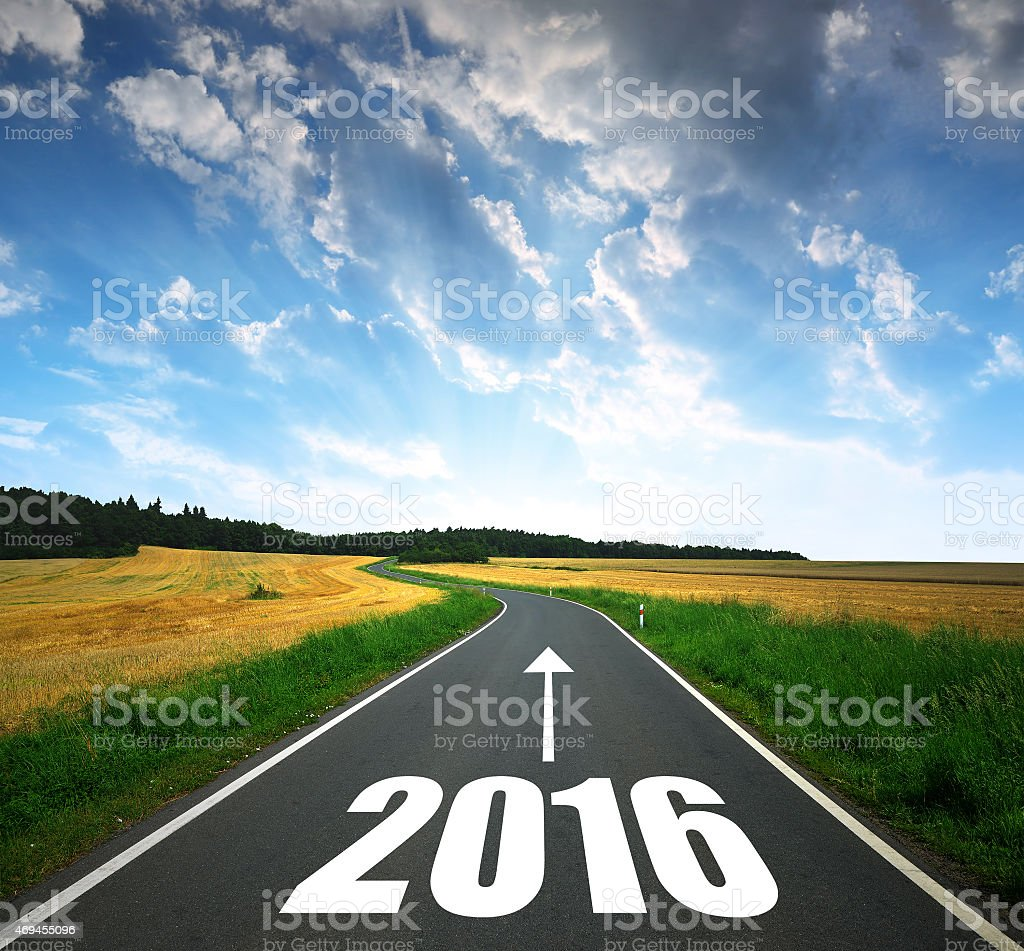 Forward to the New Year 2016 stock photo