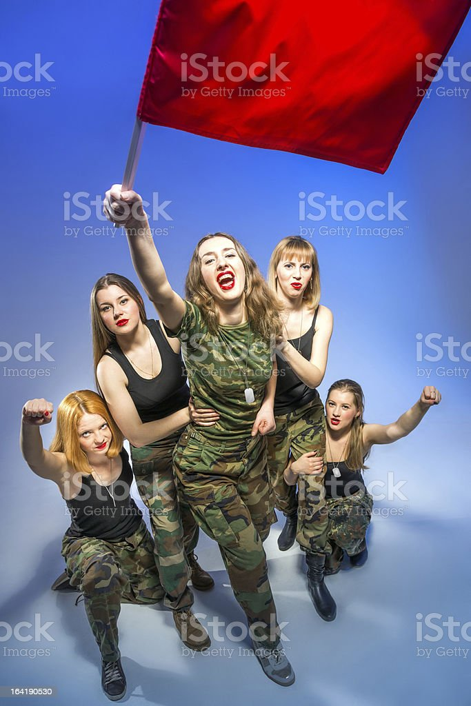 Forward to victory royalty-free stock photo