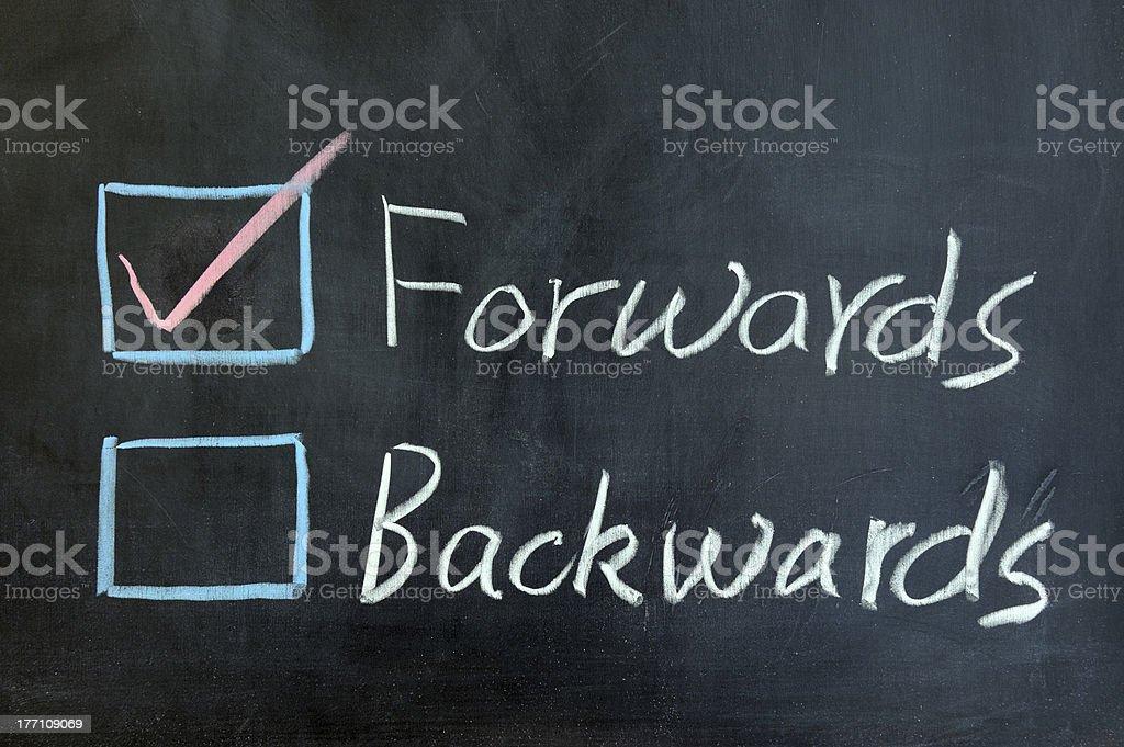 Forwards or backwards royalty-free stock photo