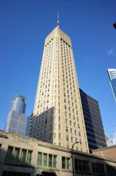 Foshay Tower in downtown Minneapolis stock photo