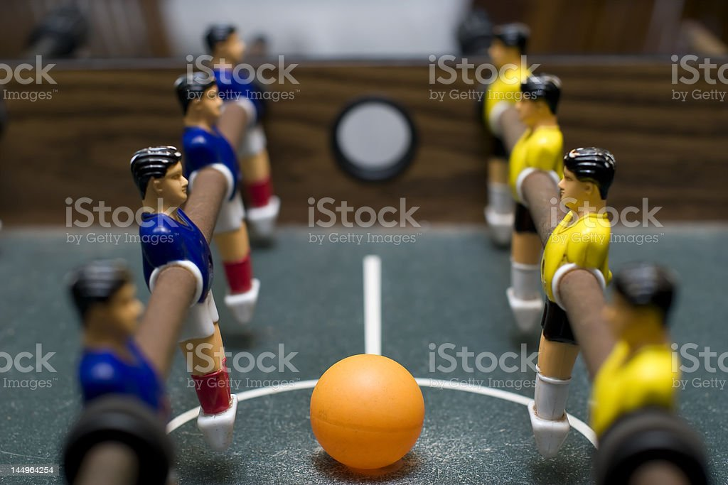 fossball battle side view royalty-free stock photo