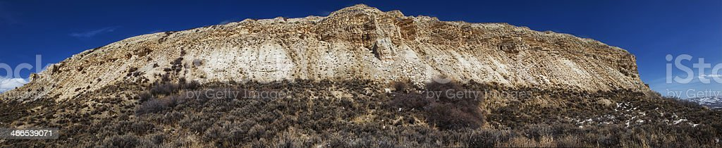 Fossil Butte National Monument Panoramic stock photo