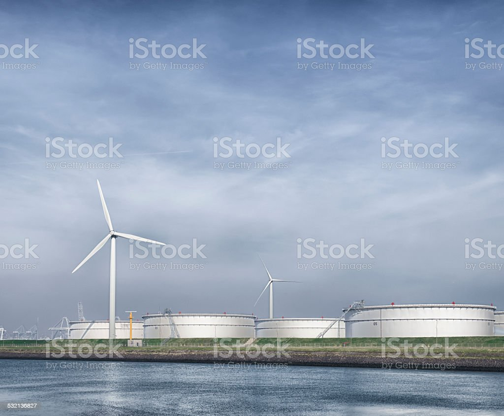 fossile and new energy stock photo