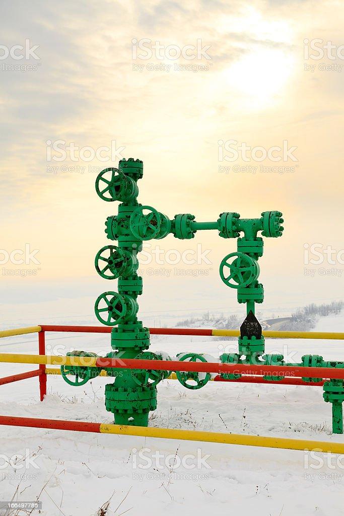 Fossile fule - methane gas stock photo
