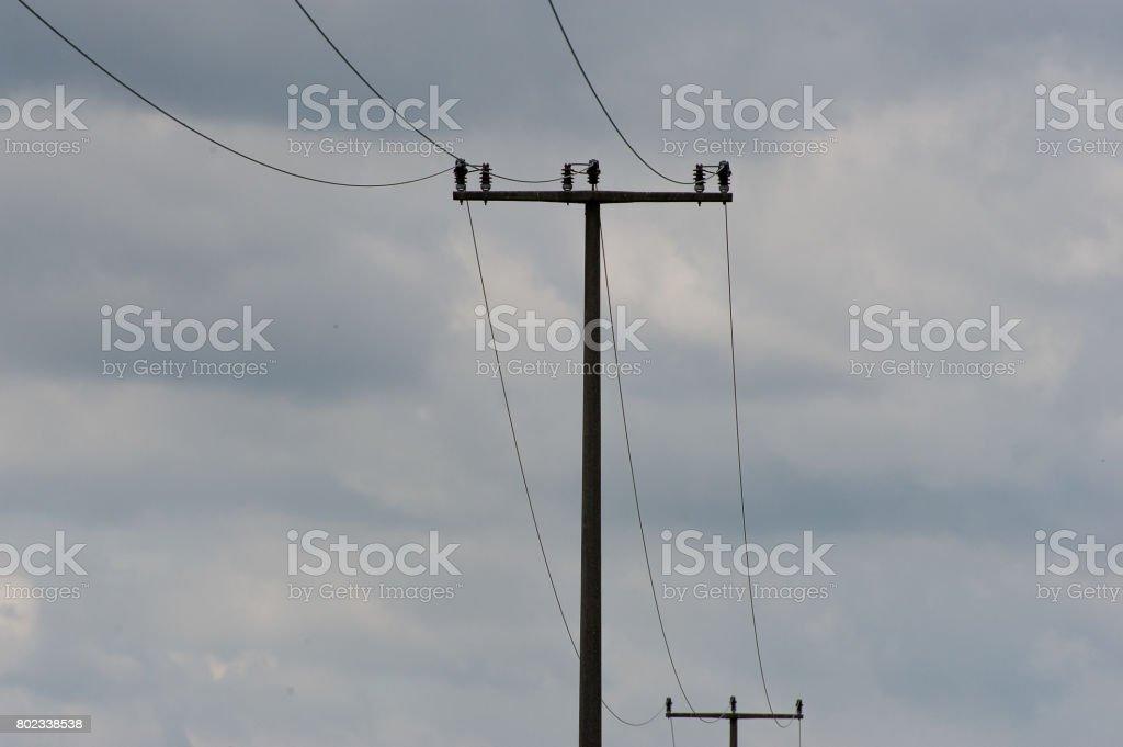 Fossile Stromversorgung stock photo