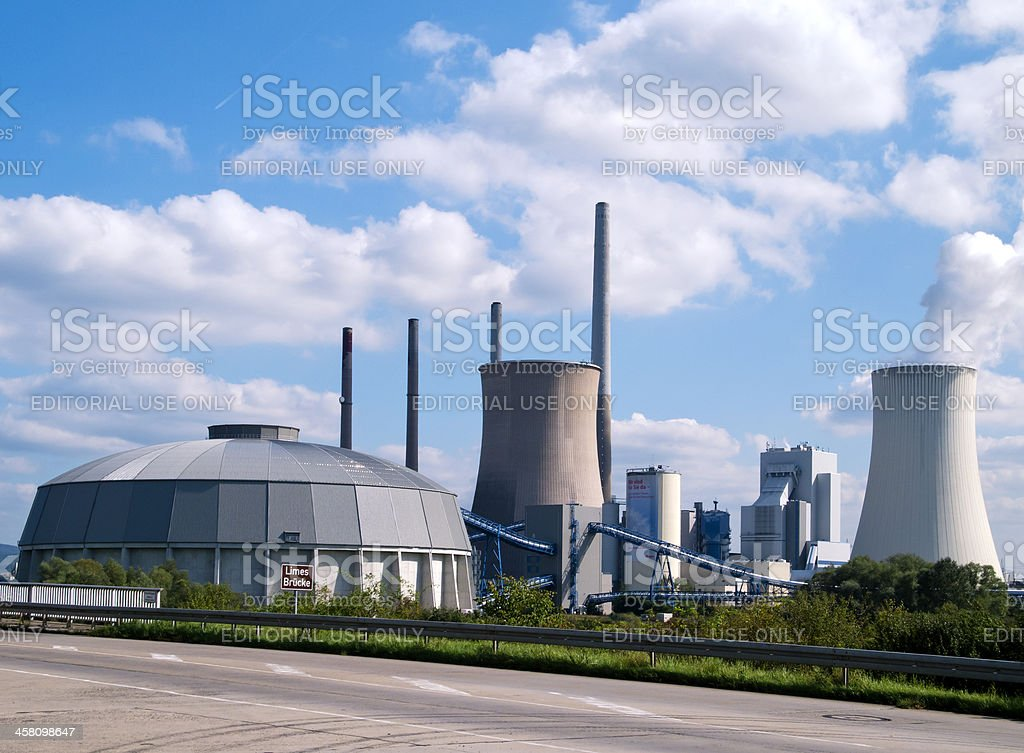 Fossil-fuel power station royalty-free stock photo