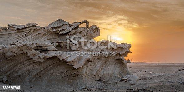 istock Fossilised dunes, Abu Dhabi 635685796