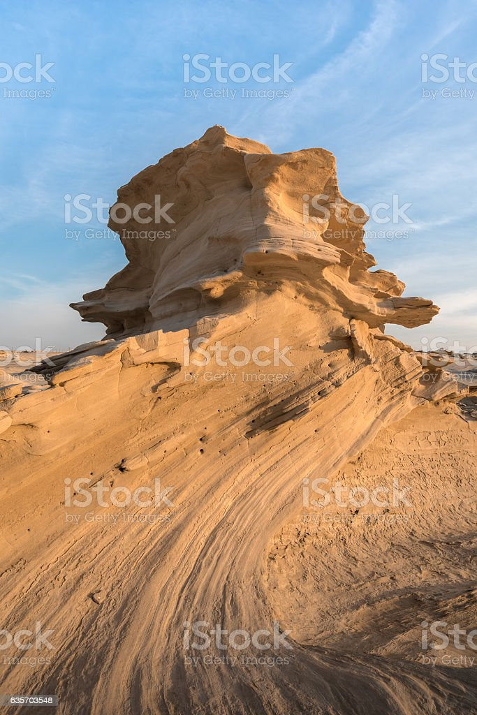 Fossilised dunes, Abu Dhabi royalty-free stock photo