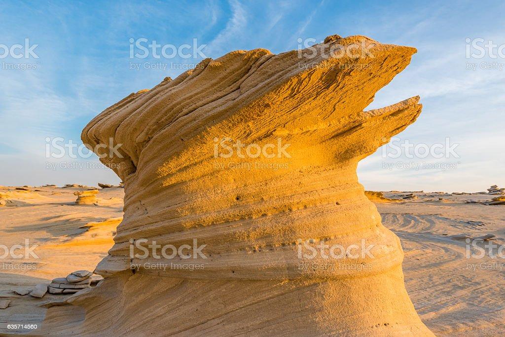Fossilised dunes, Abu Dhabi royalty-free stock photo