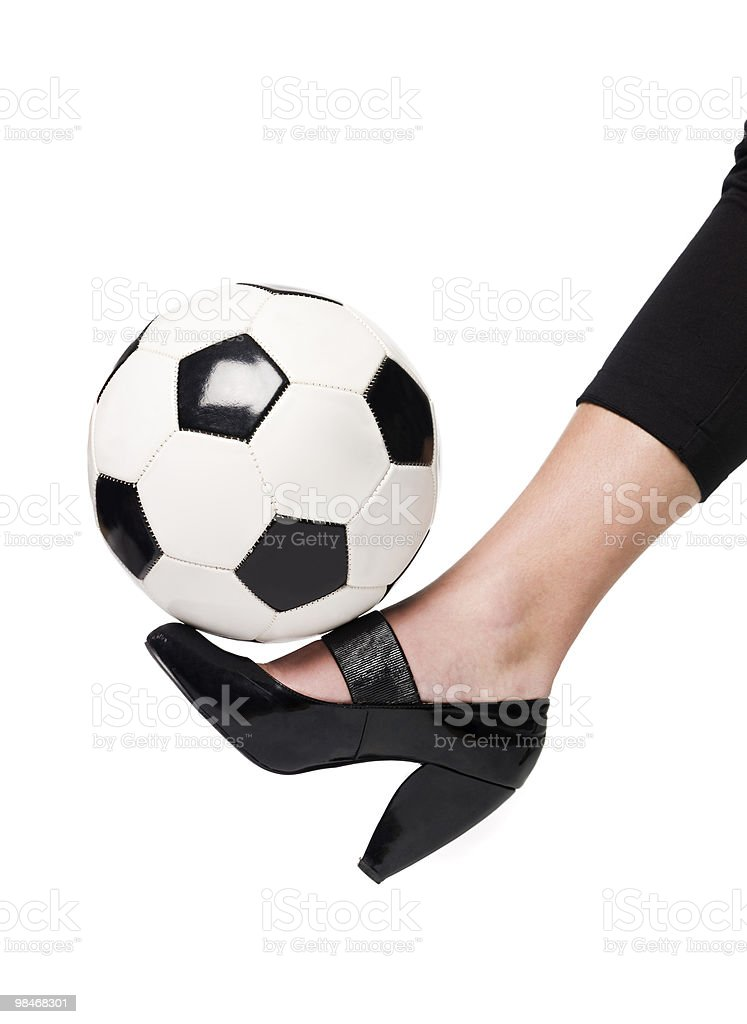 Fotball 및 칼세올라리아 royalty-free 스톡 사진