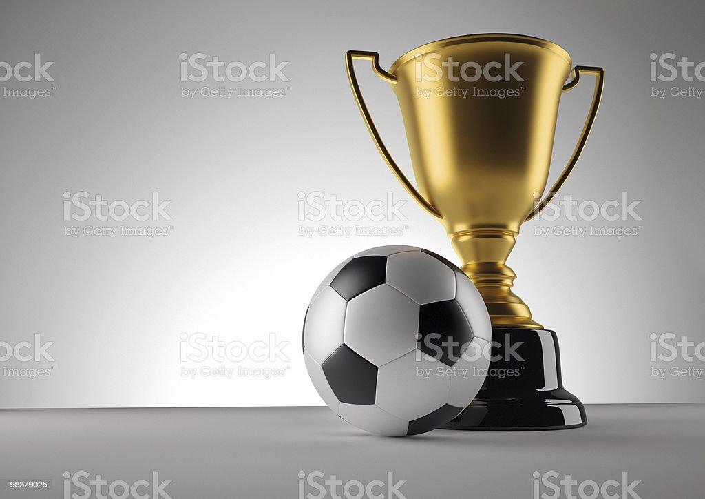 Fotball champion trophy royalty-free stock photo