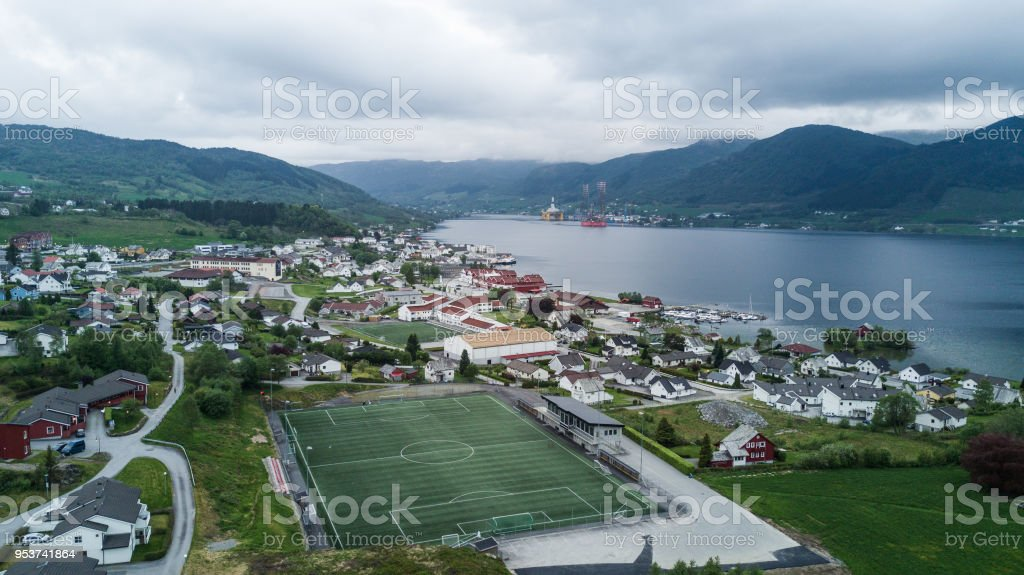 Fotball stadion stock photo