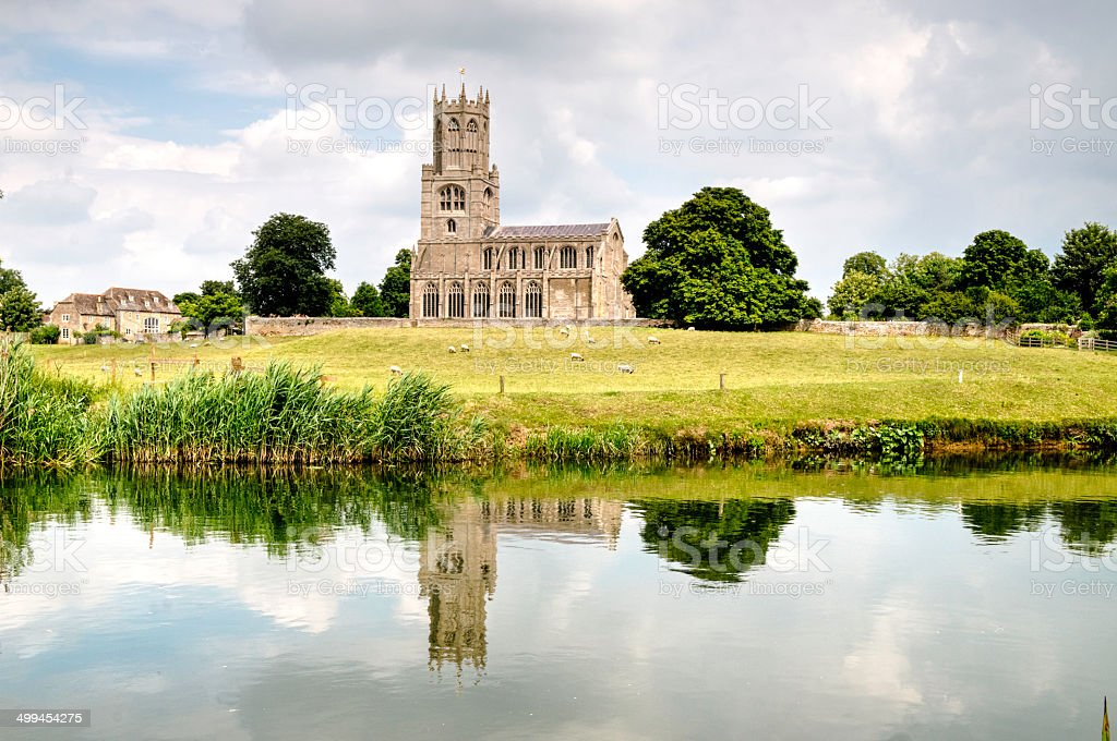 Fotheringhay Church stock photo