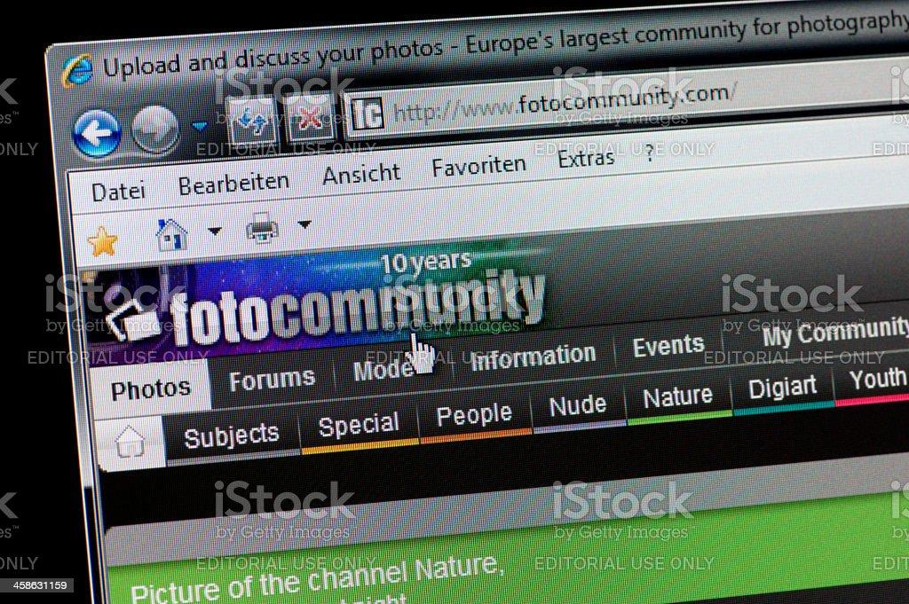 fotocommunity - Macro shot of real monitor screen stock photo