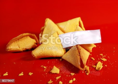 blank fortune on fortune cookies