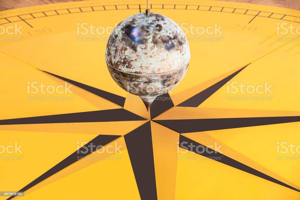 Foucault's pendulum close-up stock photo