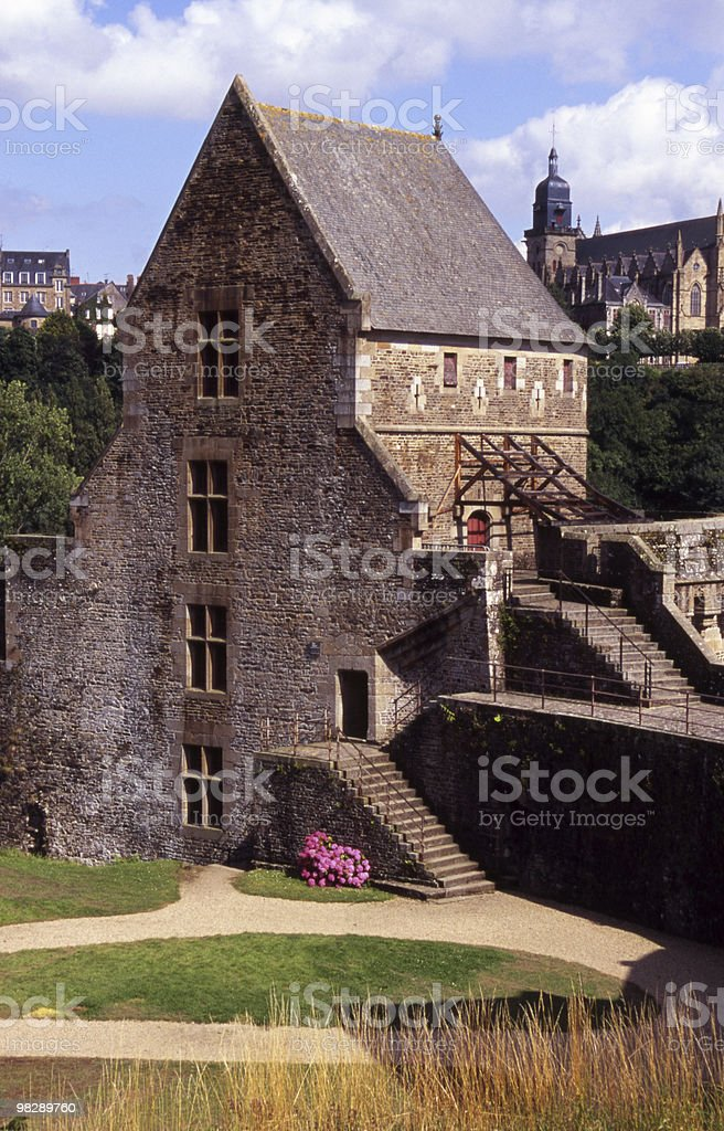 Fougieres Castle. Brittany. France royalty-free stock photo