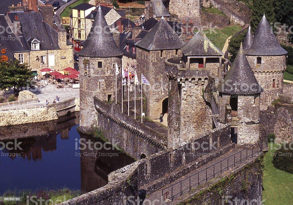 Fougieres 성. 브리타니. 프랑스 royalty-free 스톡 사진