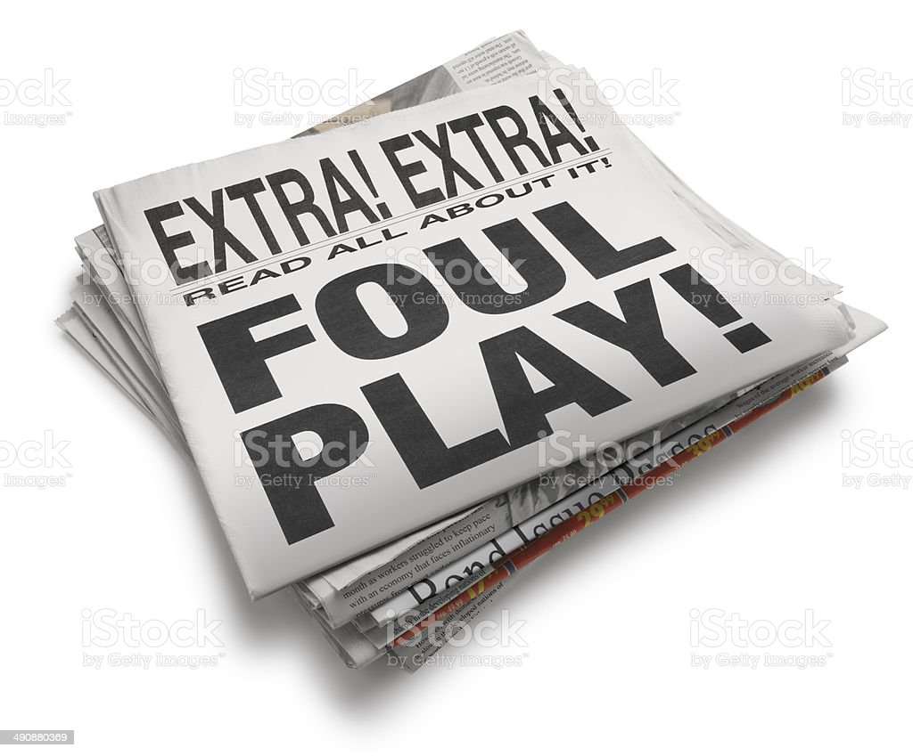 Foul Play royalty-free stock photo
