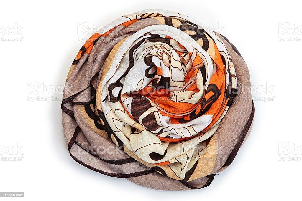 foulard naranja stock photo