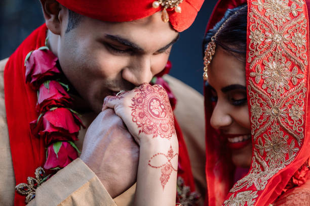 I found my queen in you Shot of a happy young couple on their wedding day romance stock pictures, royalty-free photos & images