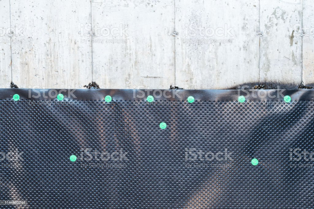 Foundation And Waterproofing Membrane Dimpled Drainage Board Stock Photo Download Image Now Istock