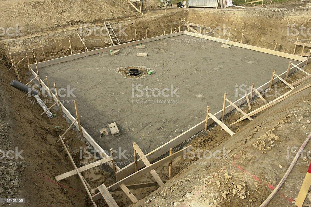 foundation base building site stock photo