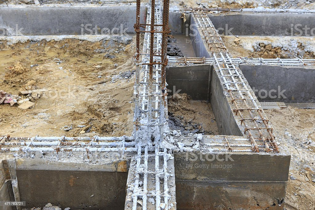 foundation construction for home building royalty-free stock photo