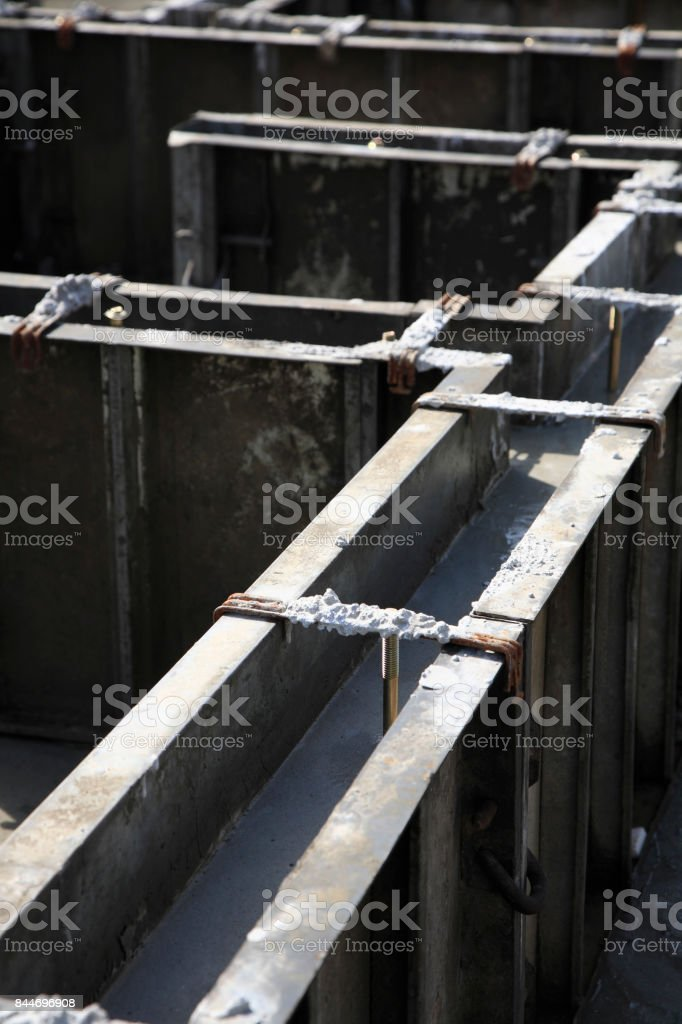 Foundation construction stock photo