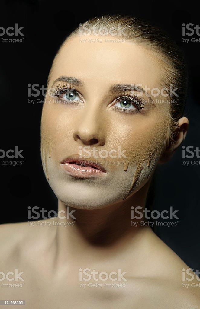 foundation makeup royalty-free stock photo