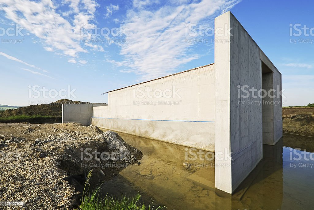 Grundlage konkreter für eine Brücke – Foto
