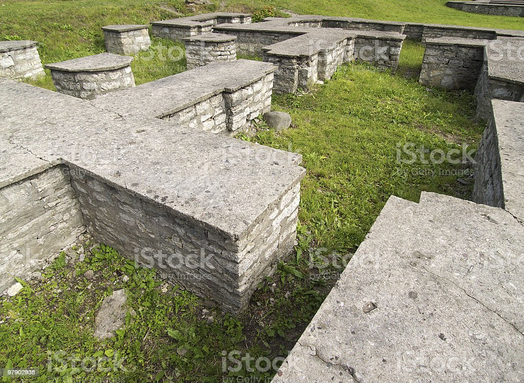 Foundation of old building royalty-free stock photo