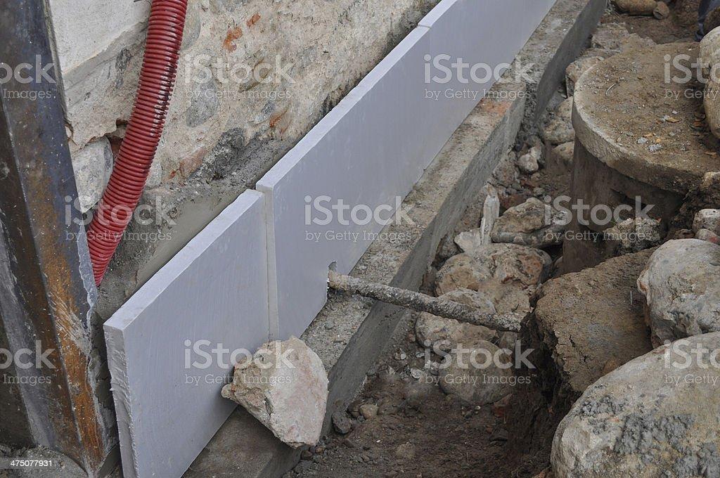 Foundation underpinning stock photo