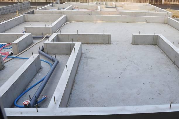 Foundation work of housing construction – zdjęcie