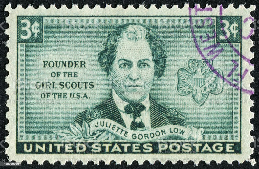 Founder Of The Girl Scouts Stamp royalty-free stock photo