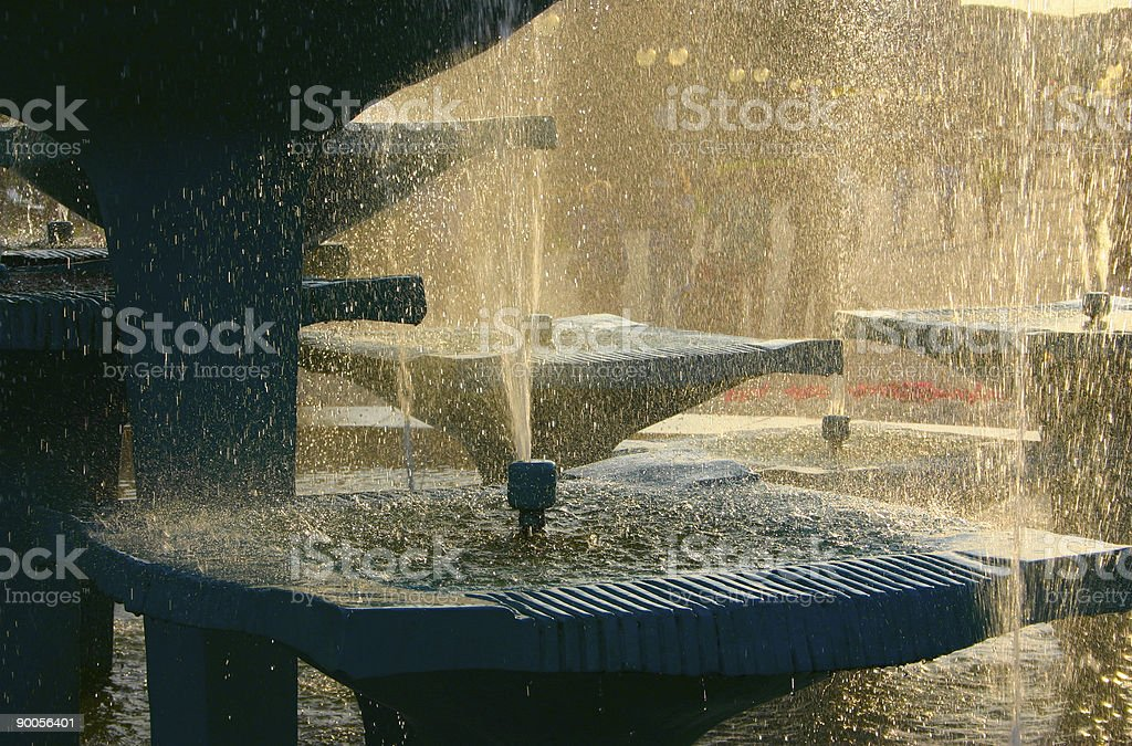 fountain against bright sun royalty-free stock photo
