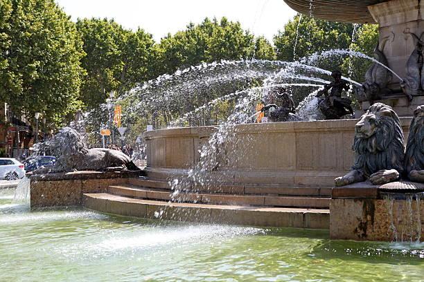 fontaine aix-en-provence - aix en provence photos et images de collection