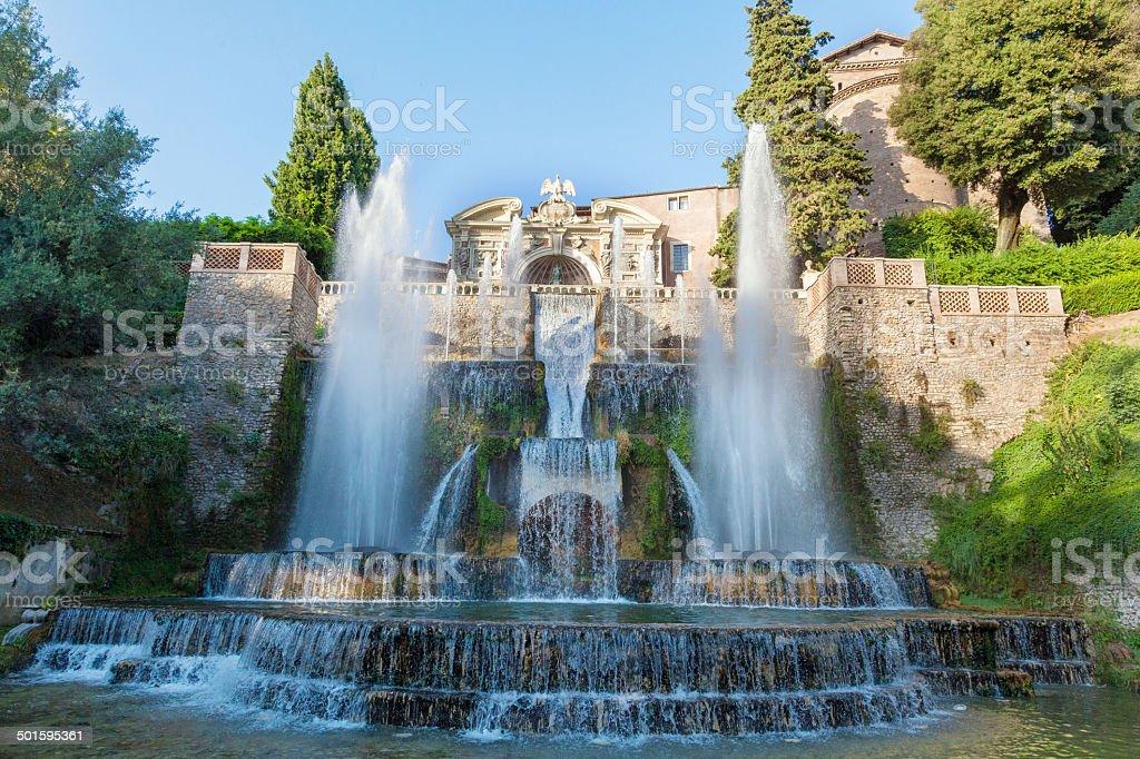 Photo De Stock De La Fontaine Et Le Jardin De Tivoli Rome Italie