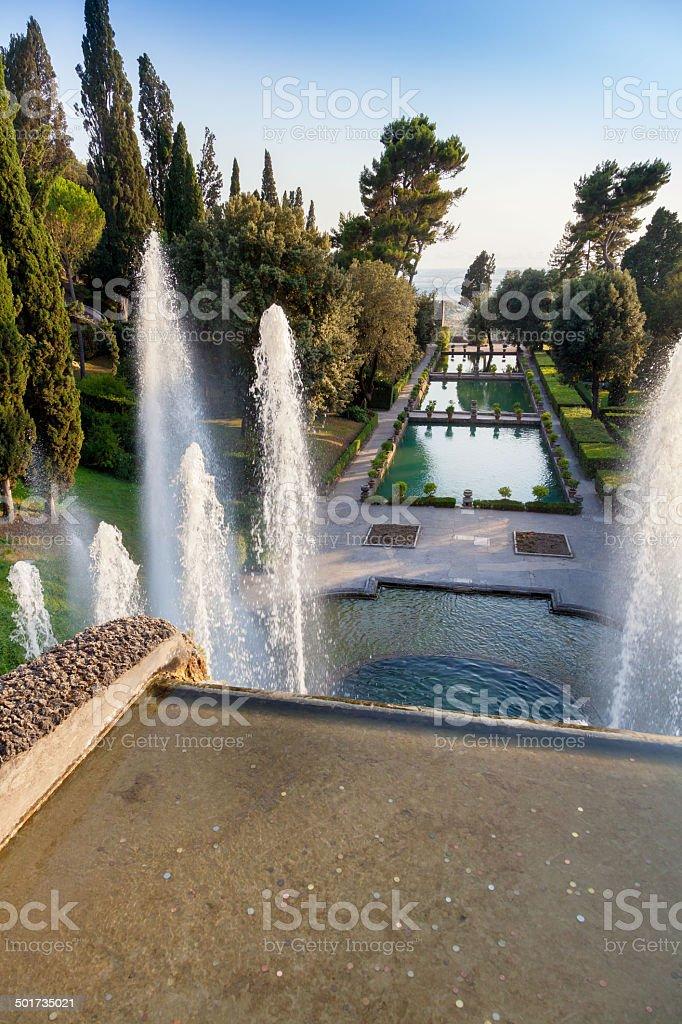 Photo Libre De Droit De La Fontaine Et Le Jardin De Tivoli Rome