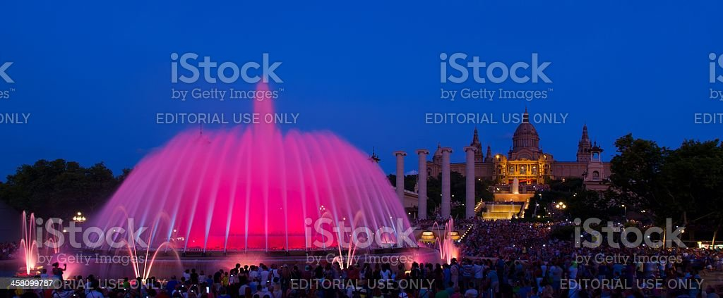 Fountain and National Catalonia Museum of Art in Barcelona royalty-free stock photo