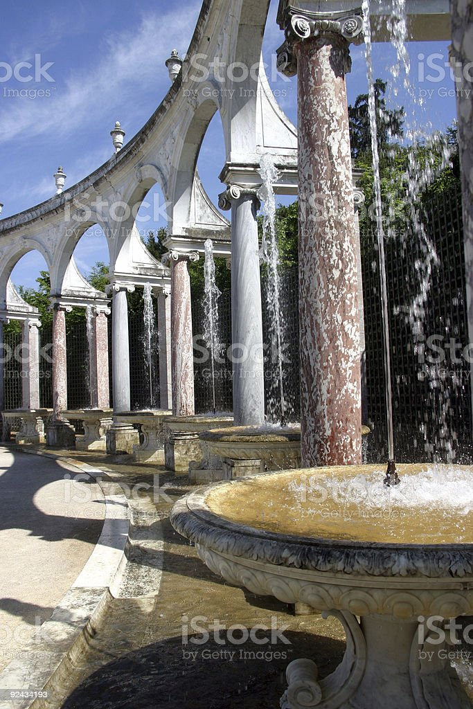 fountain and pillars 2 royalty-free stock photo