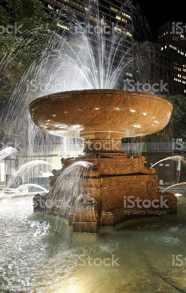 fountain at Bryant Park​​​ foto