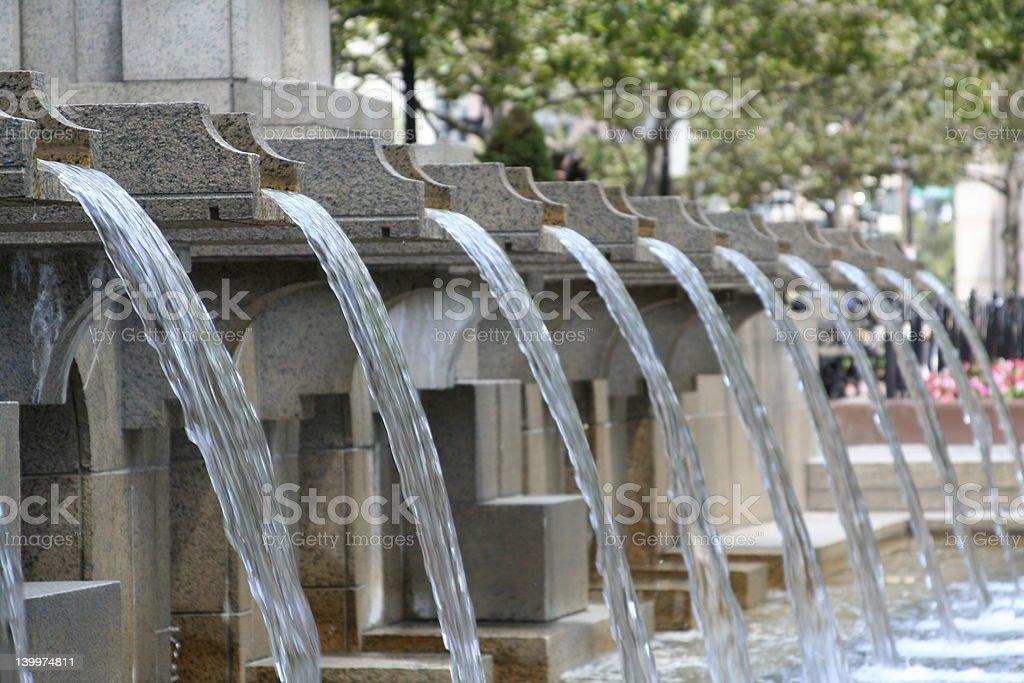 Fountain at Copley Plaza stock photo