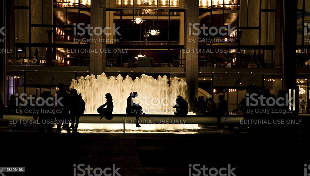 Fountain at Lincoln Center stock photo