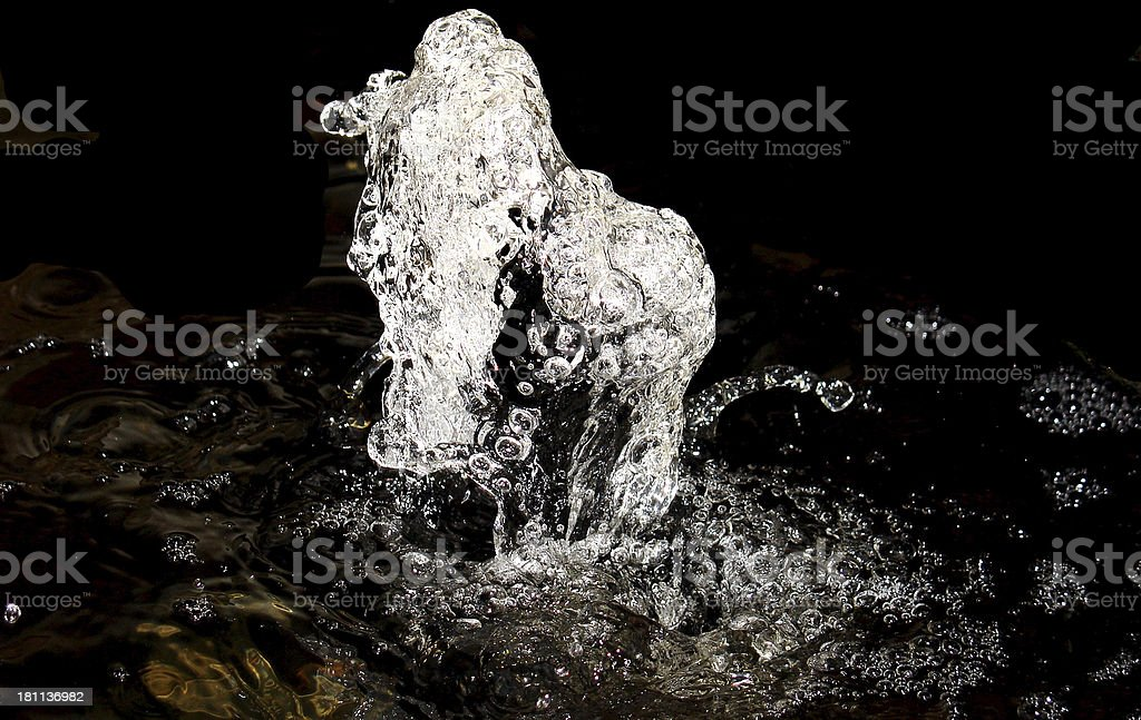 fountain at night royalty-free stock photo