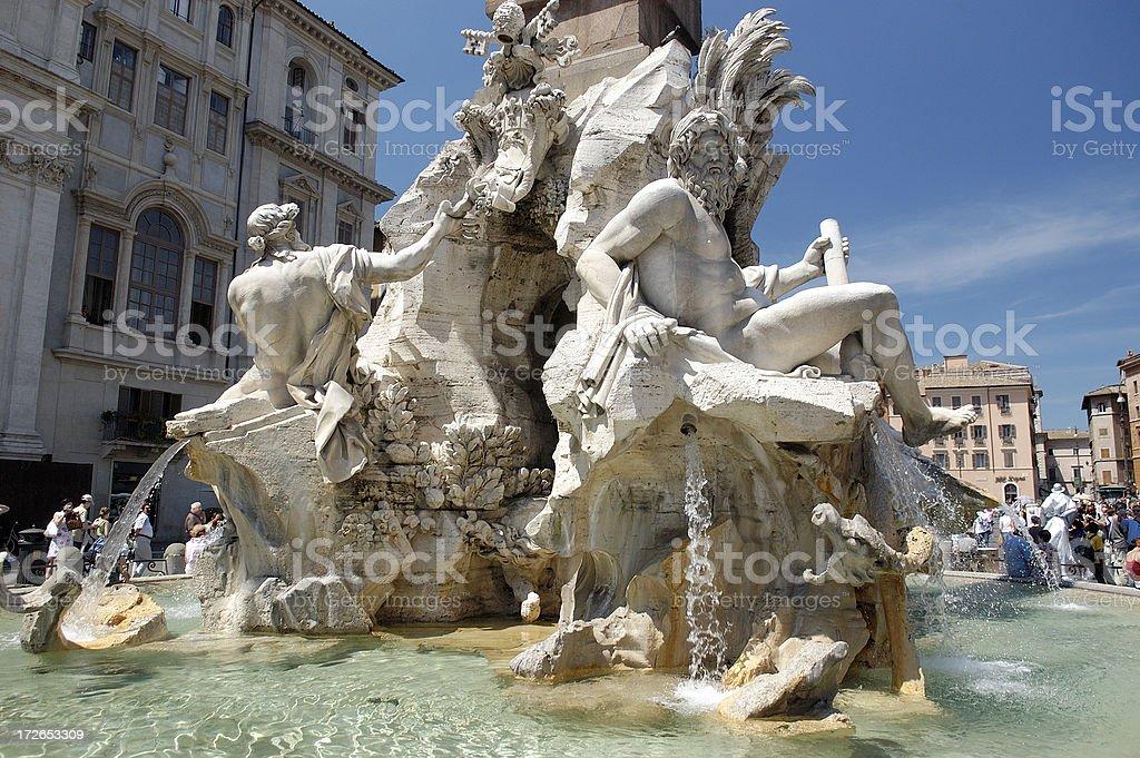 Fountain at Piazza Navona stock photo