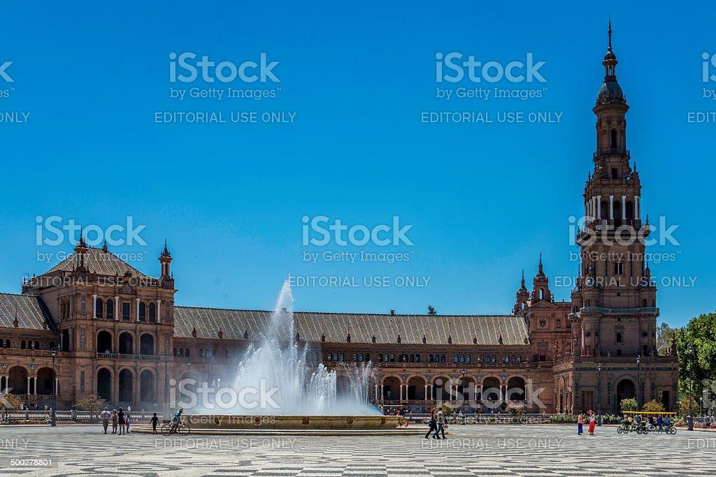 Fountain at Plaza España royalty-free stock photo