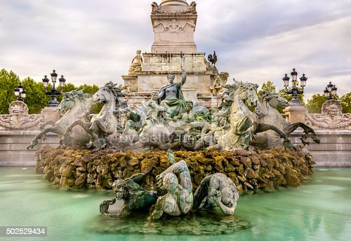 istock Fountain at the Girondists monument in Bordeaux - France 502529434