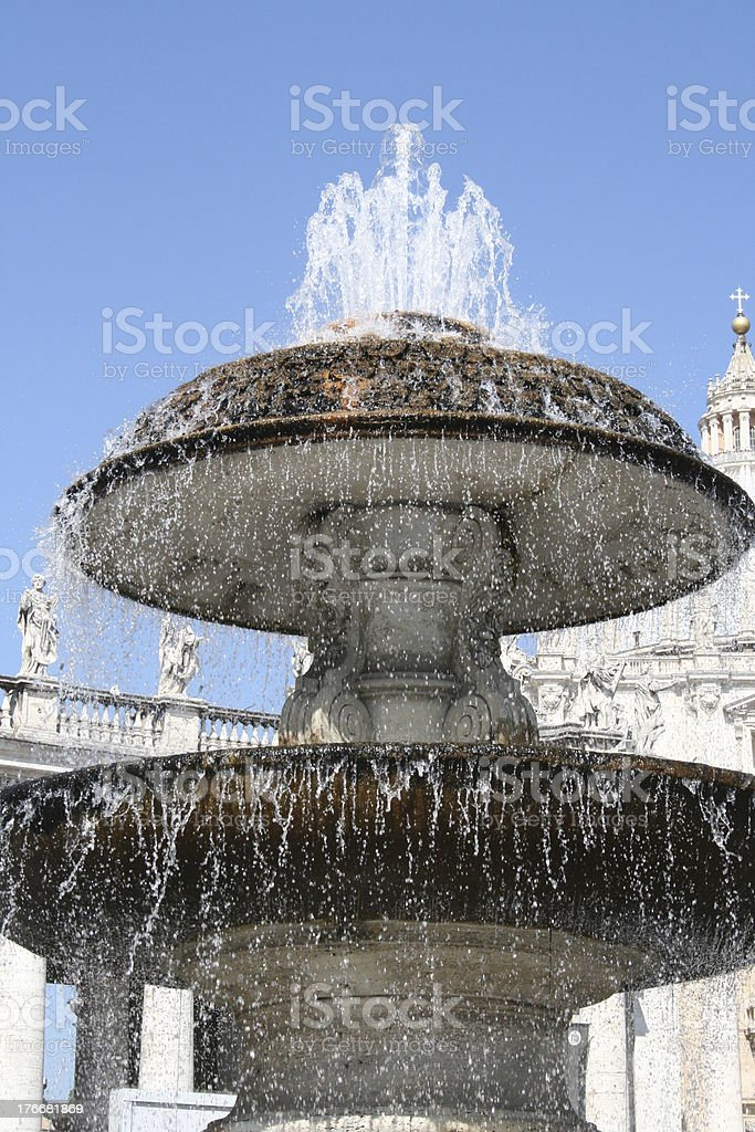 Fountain at the Vatican royalty-free stock photo