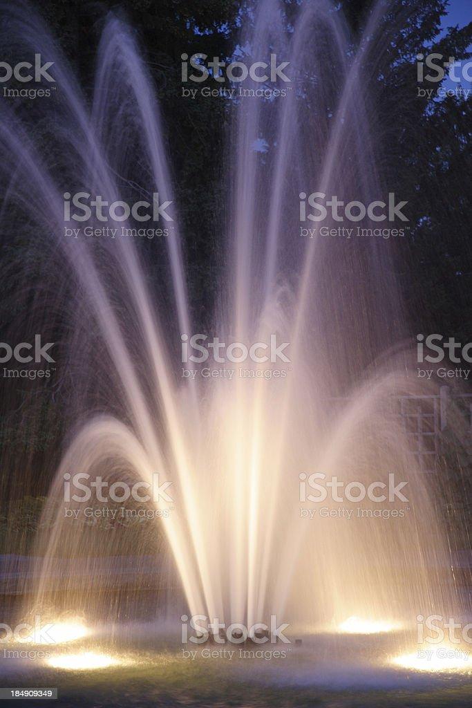 fountain at twilight 1 royalty-free stock photo